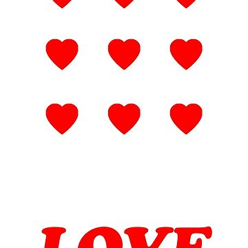 Valentine's Cards: Nine Love Hearts by MADEBYCATHERINE