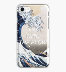 HIPSTER HOKUSAI :: GO WITH THE FLOW iPhone Case/Skin