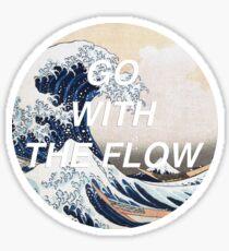 HIPSTER HOKUSAI :: GO WITH THE FLOW Sticker