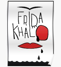 Frida Kahlo illustration Poster