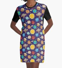 Solar system Graphic T-Shirt Dress