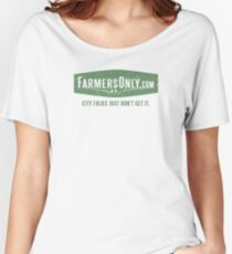 Farmers Only (green logo) Women's Relaxed Fit T-Shirt