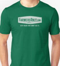 Nur Bauern (weißes Logo) Slim Fit T-Shirt