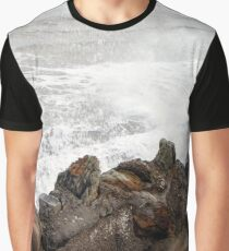 Wave breaker moment Flamborough UK  Graphic T-Shirt