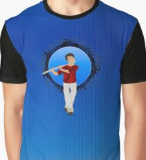 Flute Player Graphic T-Shirt