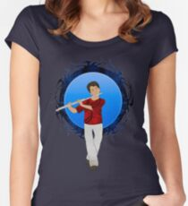 Flute Player Women's Fitted Scoop T-Shirt