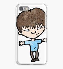 cartoon clever boy iPhone Case/Skin