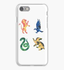 House Lion Eagle Snake Badger Watercolor iPhone Case/Skin