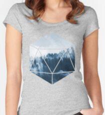 D20 - Misty Treetops Women's Fitted Scoop T-Shirt