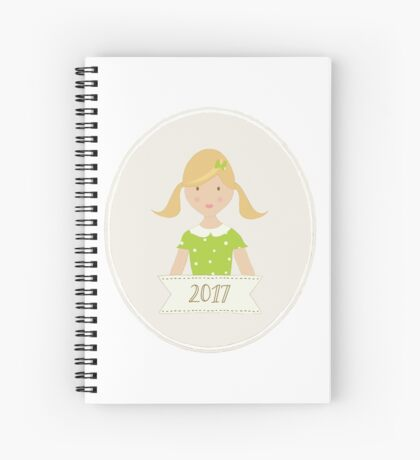 Blond Ponytails in 2017 Spiral Notebook