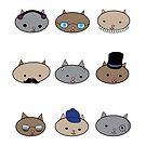 Cat Heads by ValeriesGallery