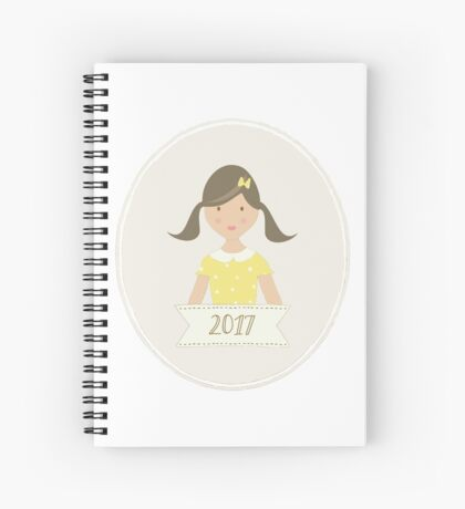 Brunette Ponytails in 2017 Spiral Notebook