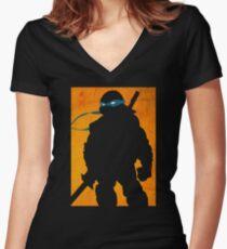 Blue Ninja Women's Fitted V-Neck T-Shirt