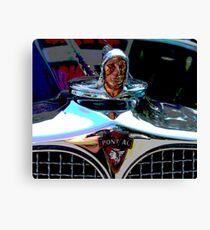 Pontiac Indian Chief Hood Ornament Canvas Print