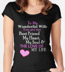 Romantic Verse for Wife on Valentines day and every day Women's Fitted Scoop T-Shirt