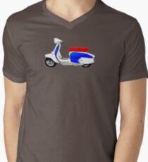 Scooter T-shirts Art: SX200 Dealership Blue Scooter Design Men's V-Neck T-Shirt