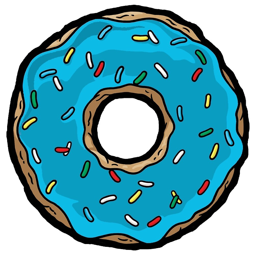 Quot Blue Donuts Quot By Medvedxd Redbubble
