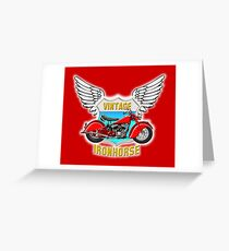 Vintage Ironhorse - Red Chief Greeting Card