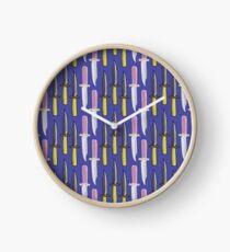 Double Knives in Purple Clock
