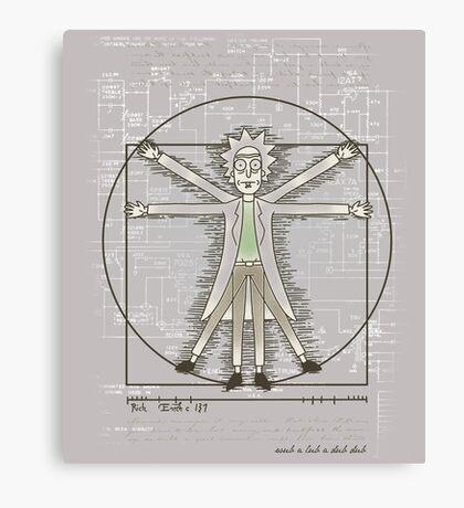 Vitruvian Rick Canvas Print