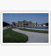 Upper Hofburg Palace and lake Vienna Austria 19840803 0007  Sticker