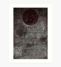 Dark Brotherhood's 5 Tenets Art Print