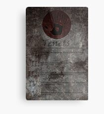 Dark Brotherhood's 5 Tenets Metal Print