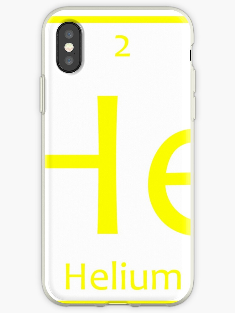 Helium He Chemical Symbol Iphone Cases Covers By The Elements