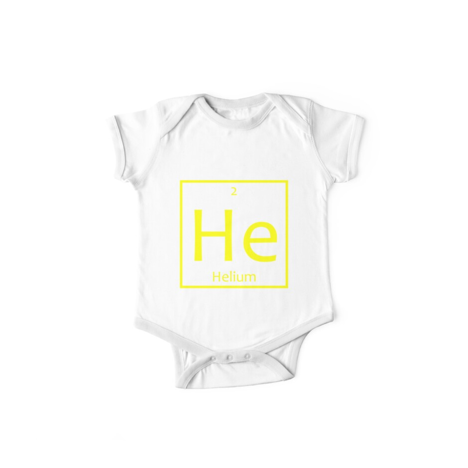 Helium he chemical symbol one piece short sleeve by the helium he chemical symbol by the elements buycottarizona
