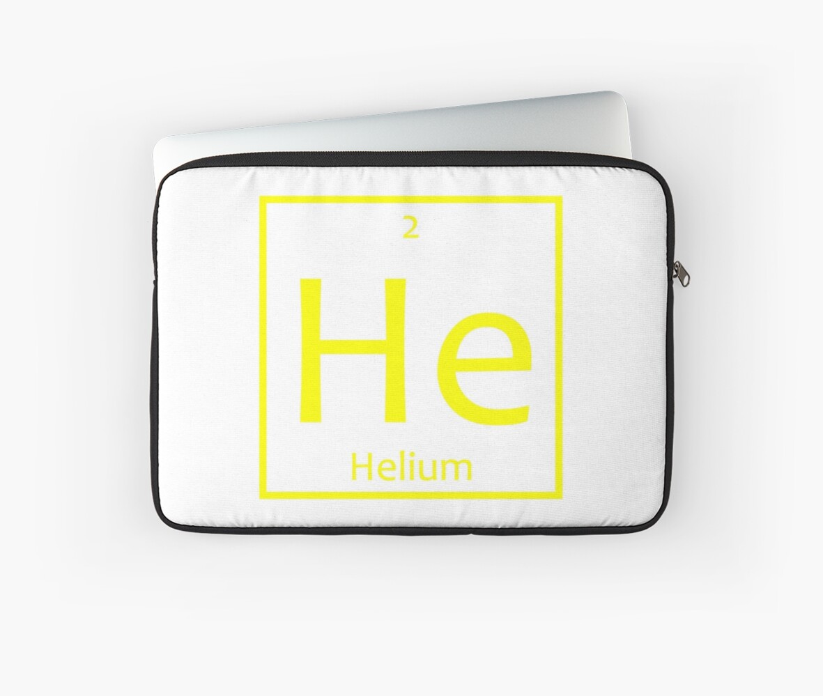 Helium He Chemical Symbol Laptop Sleeves By The Elements Redbubble
