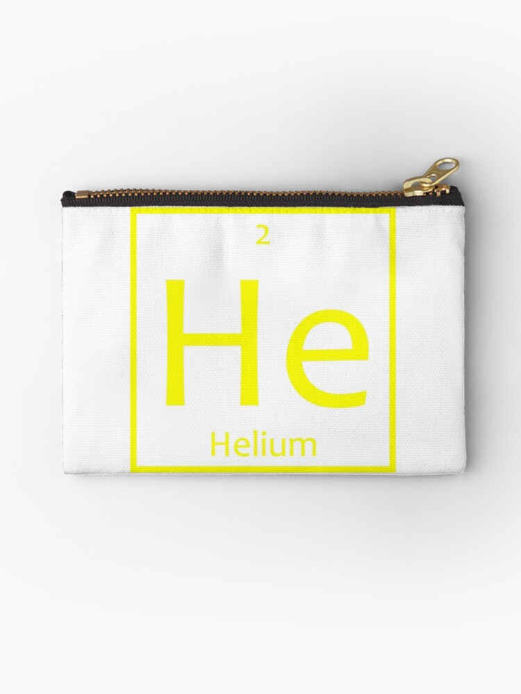 Helium He Chemical Symbol Studio Pouches By The Elements Redbubble