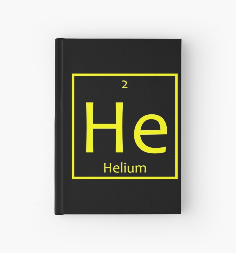 Helium He Chemical Symbol Hardcover Journals By The Elements