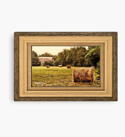 """Bales along the Tree Line"" ...with a matted and framed presentation, for prints and products  Canvas Print"