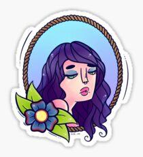 Flower Lady Sticker