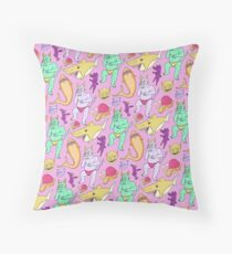 Paisley Pink Monsters Throw Pillow
