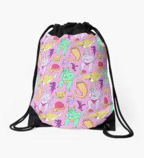 Paisley Pink Monsters Drawstring Bag