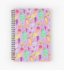 Paisley Pink Monsters Spiral Notebook