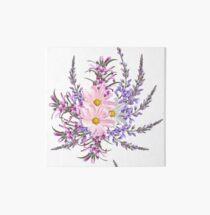 New contemporary Folk flowers Art Board