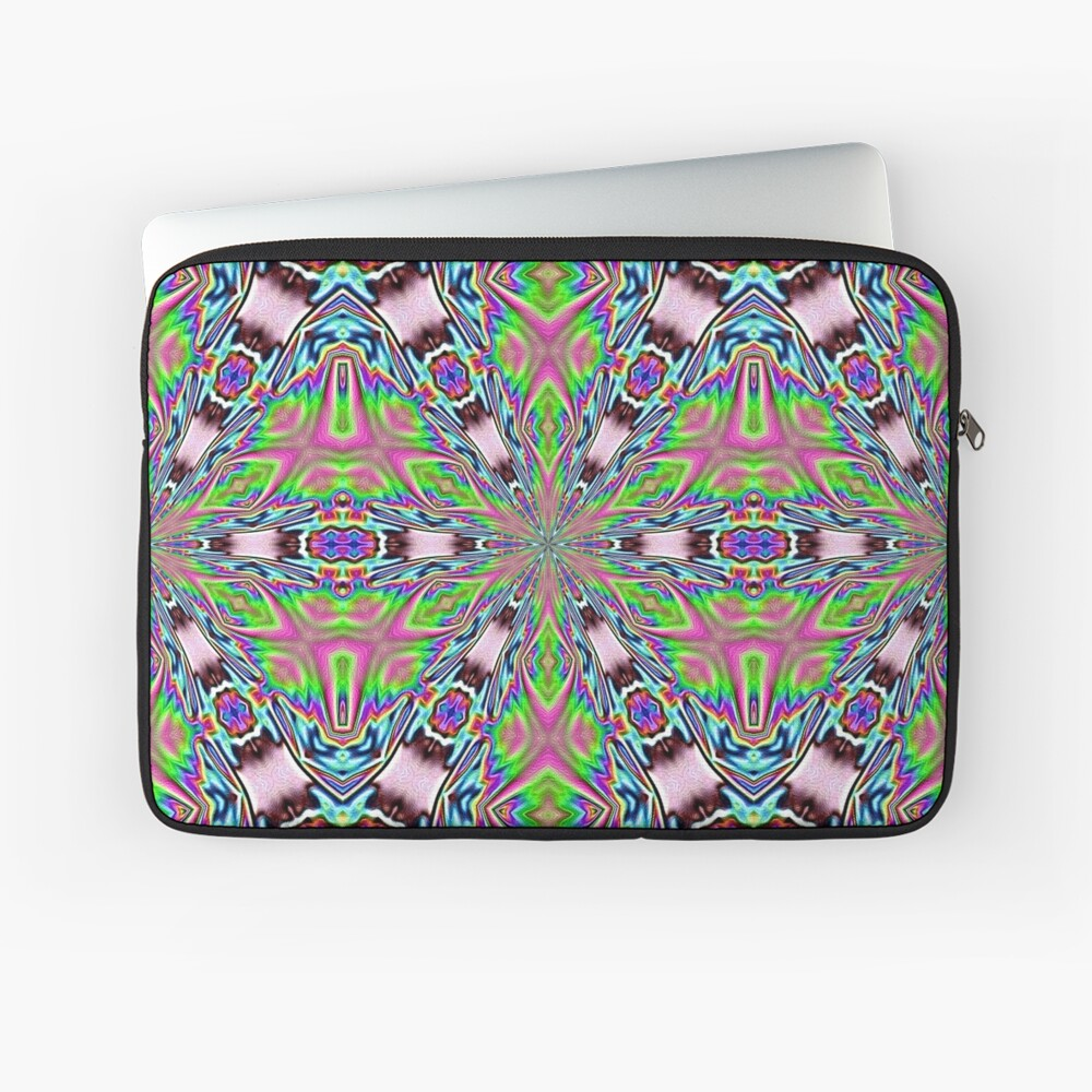 psychedelic radiance totem Laptop Sleeve Front