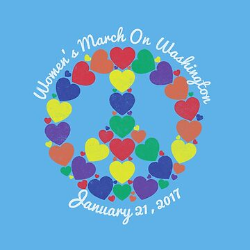 Women's March On Washington Rainbow Heart Peace Sign by CaesarSleeves