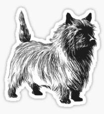 cairn terrier drawing Sticker