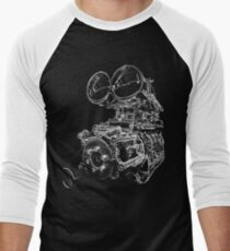 """Shottie"" - Supercharged V8 Engine Men's Baseball ¾ T-Shirt"