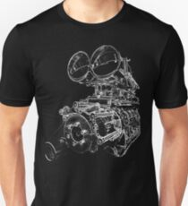 """Shottie"" - Supercharged V8 Engine Unisex T-Shirt"
