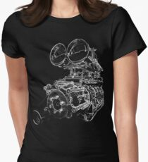 """""""Shottie"""" - Supercharged V8 Engine Womens Fitted T-Shirt"""