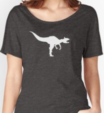 Cryolophosaurus Dinosaur Silhouette (White) Women's Relaxed Fit T-Shirt