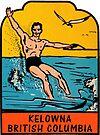 Kelowna British Columbia Vintage Travel Decal by hilda74