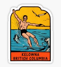 Kelowna British Columbia Vintage Travel Decal Sticker
