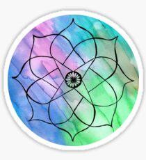 watercolour mandala sticker Sticker