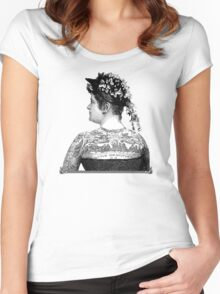 Tattooed Victorian Woman Women's Fitted Scoop T-Shirt
