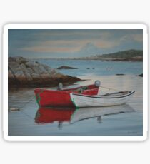 Boats at Peggys Cove  Sticker